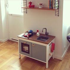 Ikea hacks. Ikea duktig play kitchen makeover.