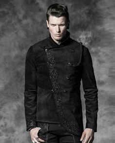 PUNK RAVE ROQUE BAROQUE MENS MILITARY JACKET Preview