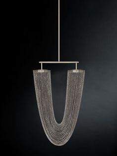 Otero Pendant Light - Small in satin nickel   DSHOP