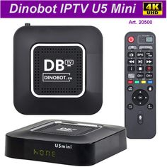 IPTV Dinobot U5 4K 16GB MAG, Xtream Dvb T2, Internet Tv, Quad, Android Tv, Smartphone, 4k Uhd, Digital Alarm Clock, Apple Tv