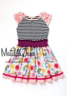 850b6347067f3 Matilda Jane Clothing Pink & Black Gummi Fruits A-Line Dress - Toddler