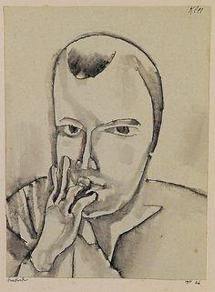 Paul Klee (Swiss, 1879 – 1940) - Thinking (Denkender), 1911