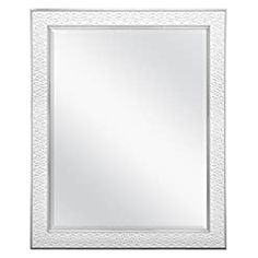 MCS 22×28 Inch Nordic Blossom, 27×33 Overall Size, White Mirror, 27 x 33 Inch, Wall Mounted Mirror, Wall Mirrors, Frames On Wall, Framed Wall, White Mirror, Vanity Decor, Mirror With Lights, Easy Gifts, Oversized Mirror