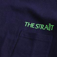 ML LOGO BIG T-SH #NAVY  ポケットがアクセントのビックシルエットTシャツに、40ozモルトリカーで有名なST IDESのロゴをサンプリングした蛍光ロゴを配置。  5.6ozの厚みがありつつ柔らかなタッチの素材が◎。