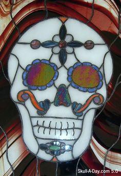 Stain Glass Sugar Skull