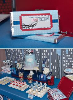 Vintage Blue & Red Airplane Birthday Party // Hostess with the Mostess® Vintage Airplane Party, Vintage Airplanes, Airplane Wedding, Planes Birthday, Planes Party, 3rd Birthday Parties, Boy Birthday, Birthday Ideas, Airplane Baby Shower