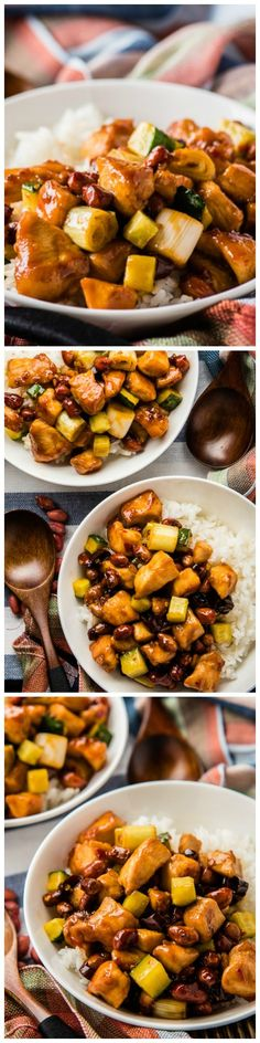 Easy Kung Pao Chicken - a faster version of popular dish that only requires 20 minutes of your time to prepare!