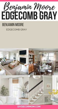 Edgecomb Gray: Looking for the perfect light gray paint color for your kitchen, bedroom, living room, or family room? Edgecomb Gray by Benjamin Moore is the perfect greige paint color. Light Grey Paint Colors, Greige Paint Colors, Bedroom Paint Colors, Paint Colors For Living Room, Paint Colors For Home, Living Room Grey, Living Rooms, Gray Bedroom, Trendy Bedroom