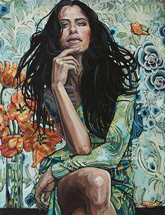 Woman in a Blue Dress (2013) | Tattoo Girl VI (2013) | Belinda Eaton
