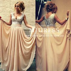 Sexy Deep V Sequins Long Formal Evening Prom Dress Woman Party Gown, Champagne Sequin Prom Dress,Sequin Sparkly Bridesmaid 138.00