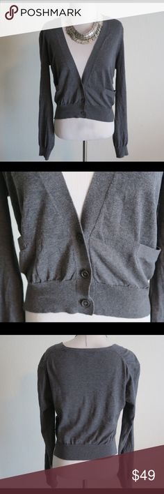 BCBG Maxazria Grey Gray XS Sweater Cardigan Great cardigan in great condition. Material: 80% Cotton, 20% Silk. Size: XS. BCBGMaxAzria Sweaters Cardigans
