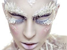 Jardis: Return Of The White Witch – Photography Graham Kenneth Short. Ice Makeup, Makeup Art, Frozen Makeup, Costume Halloween, Halloween Makeup, Halloween Face, Snow Queen Makeup, Ice Queen Costume, Fantasy Make Up