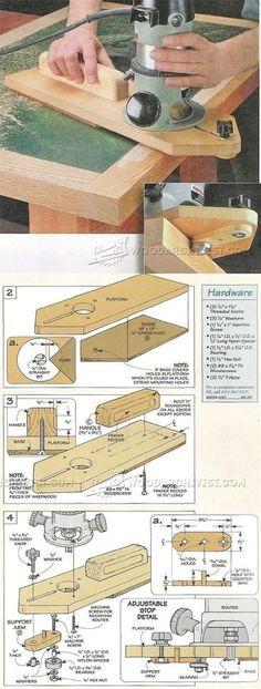 Flush Trim Jig - Edging Tips, Jigs and Techniques | WoodArchivist.com