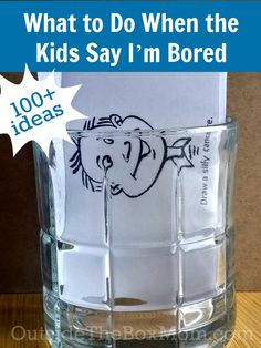 "Are you wondering what to do when the kids say, ""I'm Bored?"" I have list of over 100 ideas to keep them occupied. It's Summer and school is out. It doesn't take long before you start to hear ""I'm bored"" from the kids. My solution? The I'm Bored jar. What is that? I simply collected a list …"