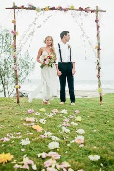 Bohemian Beach Wedding Styled Ceremony | The Bride's Tree - Sunshine Coast Wedding