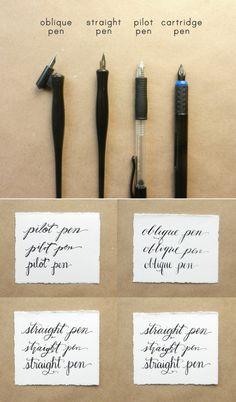 Calligraphy Pen Comparisons ( https://thepostmansknock.com/calligraphy-pen-comparisons/ )