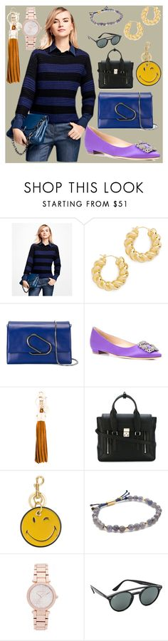 """""""Professional look"""" by camry-brynn ❤ liked on Polyvore featuring Brooks Brothers, Soave Oro, 3.1 Phillip Lim, Manolo Blahnik, See by Chloé, Anya Hindmarch, Gorjana, Michael Kors and Ray-Ban"""