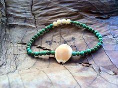 Cowrie Shell Beach Bracelet on Etsy, $10.00
