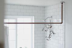 DIY Copper Pipe Shower Curtain Rod — ABIGAIL▲GREEN