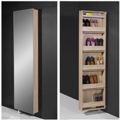 High Resolution Mirrored Shoe Cabinet 2 Rotating Storage