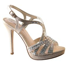 Marna-19x is a stunning strappy heeled sandal with elegant shimmer material  and…