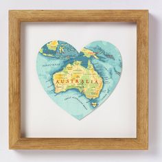 Australia Map Heart Print by Bombus Off The Peg, the perfect gift for Explore more unique gifts in our curated marketplace. Heart Map, Heart Print, Australian Gifts, Australia Map, Bath And Beyond Coupon, Old Maps, Creative Business, Indiana, Vintage World Maps