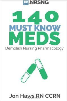 140 Must Know Meds: Demolish Nursing Pharmacology for Nurses - Book