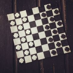 Draughtboard hama beads by beadwarriors: