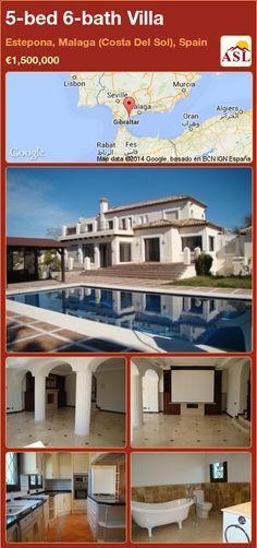 Villa in Estepona, Malaga (Costa Del Sol), Spain - Reisen, sehen, essen Murcia, Malaga, Puerto Banus, Guest Toilet, The Atlas, Open Fires, Heated Pool, Atlas Mountains, North Africa