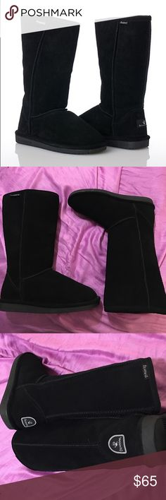 NEW!! BearPaw boots NEW Never worn BearPaw boots. Suede upper, wool blend lining, and sheepskin footbed. BearPaw Shoes Winter & Rain Boots