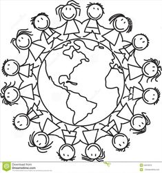 Children Around The World Coloring Pages Readgyan Throughout - napisy. World Clipart, Kindergarten Coloring Pages, Coloring Pages For Kids, Around The World Crafts For Kids, Around The Worlds, Free Printable World Map, Harmony Day, Globe Art, Japanese Embroidery