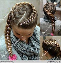 Fryzury dla dziewczynek z długimi włosami
