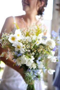 Caroline and Gareth\'s spring wedding on their farm with a rustic ...
