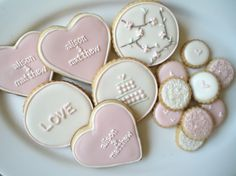 Wedding cookies... As an alternative or instead of cupcakes? Still have a cutting cake.