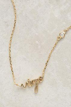 Zodiac Nameplate Necklace