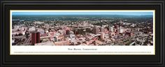 New Haven, Connecticut City Skyline Panoramic Pictures & Posters