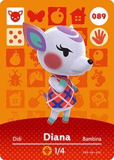 Nintendo Animal Crossing Happy Home Design Diana Amiibo Card 089 USA Version #Nintendo