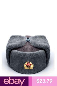12da0d1cc9093 Details about Authentic Russian Military KGB Ushanka Hat W  Soviet ...