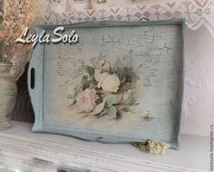 Fotografije na zidu zajednice – fotografije Decoupage Furniture, Decoupage Box, Decoupage Vintage, Wood Crafts, Fun Crafts, Diy And Crafts, Tole Painting, Painting On Wood, Shabby Vintage
