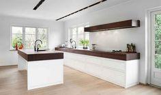 white kitchen wood worktop - Google Search