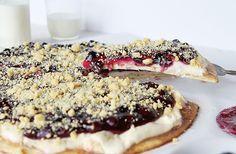 Rustic Blueberry Dessert Pizza! http://iambaker.net/blueberry-dessert-pizza/
