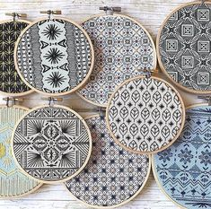Blackwork Cross Stitch, Blackwork Embroidery, Embroidery Sampler, Modern Embroidery, Hand Embroidery Patterns, Diy Embroidery, Cross Stitching, Cross Stitch Embroidery, Cross Stitch Patterns