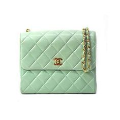 Mint Chanel purse