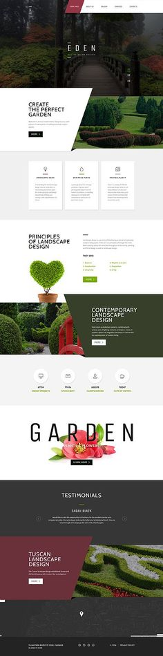 Gardening & Exterior Professional Design #website #template. #themes…