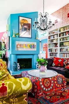Bold And Bright 2016 Living Room Color Trends What S Out Refinery 29 Bright Living Room Bright Colors Soften