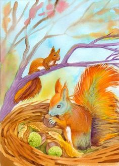 Használja a nyilakat, kapcsoló a lejátszott kép Cute Squirrel, Squirrels, Penny Parker, Fall Images, Forest Animals, Pictures To Paint, Animals And Pets, Lighthouse, Art For Kids