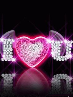 Glitter Graphics: the community for graphics enthusiasts! Love Heart Images, Love You Images, Heart Pictures, Heart Wallpaper, Love Wallpaper, Cellphone Wallpaper, Love You Gif, My Love, Animated Heart
