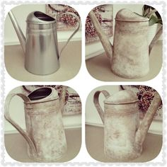 DIY shabby chic watering can Annie sloan Chalk paint