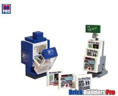 LEGO+Bathroom+Decor   Kit Newspaper Vending Machine Lego® Custom News Paper,