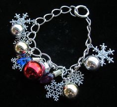 Snowflakes and Christmas Ornaments Charm by stevenssteampunk